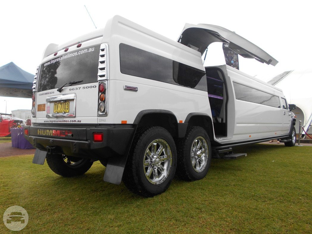 20 passenger White Stretch Hummer  / Hornsby NSW 2077, Australia   / Hourly AUD$ 0.00