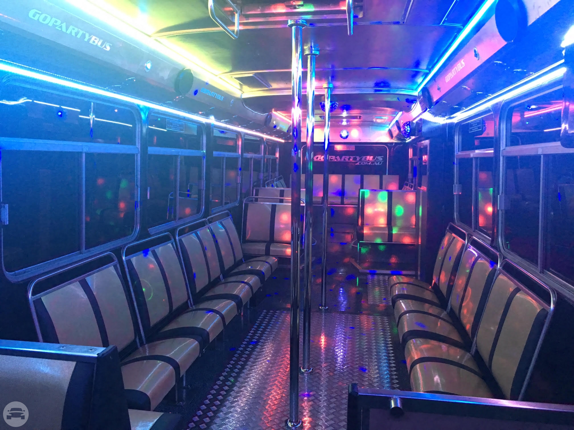 45 passenger Gold Party Bus Party Limo Bus  / Perth WA 6000, Australia   / Hourly AUD$ 0.00