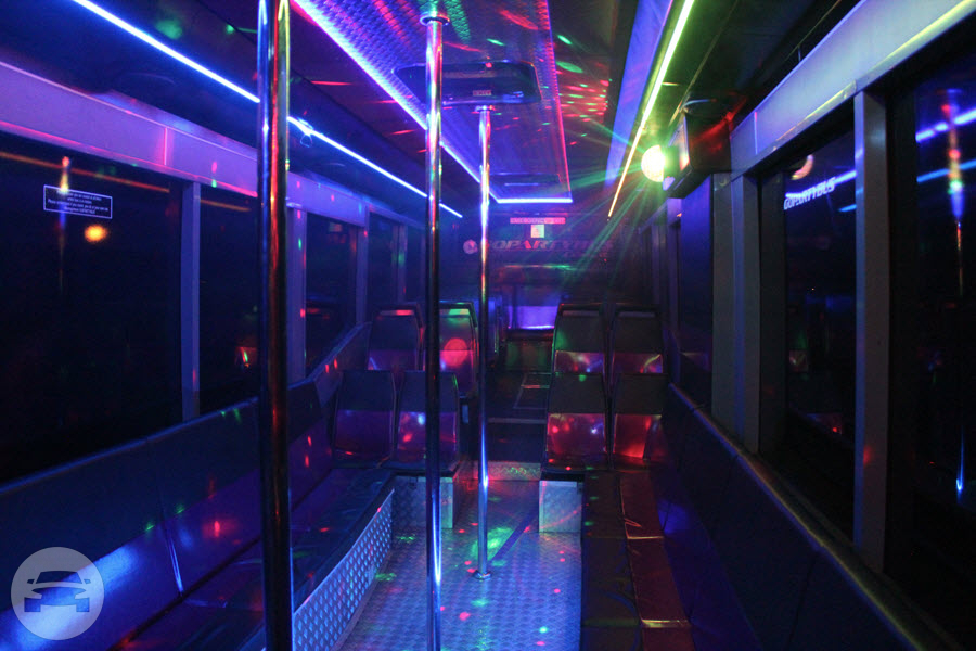 45 passenger Pink Party Bus Party Limo Bus / Perth WA 6000, Australia   / Hourly AUD$ 0.00